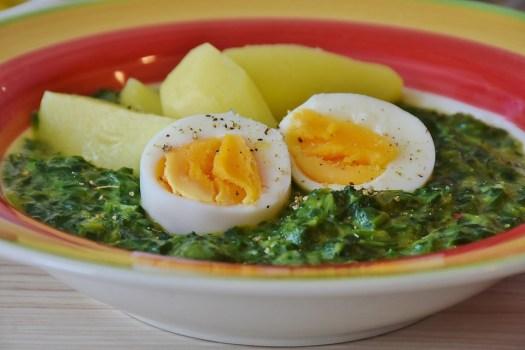 Spinaci, Uovo, Di Patate, Mangiare, Alimentari