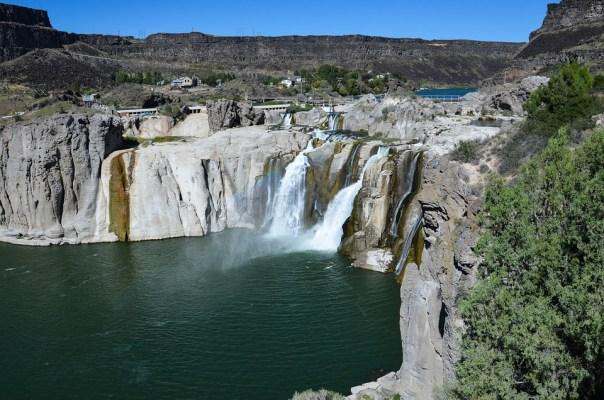 Idaho, Usa, America, Nature, Waterfalls, Twin If