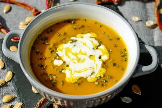 Crema Di Zucca, Brodo, Arancione, Pasto, Delicato