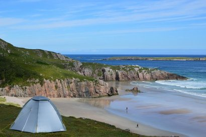 Escocia, Camping, Playa, Acampada Libre