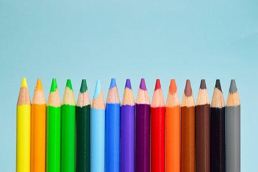 Vert Art Bois Pointu Crayon Groupe Bleu Co