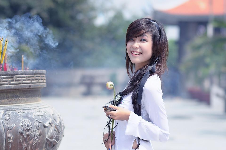 Girl, Asian, Fashion, Pretty, Woman, Happy, Person
