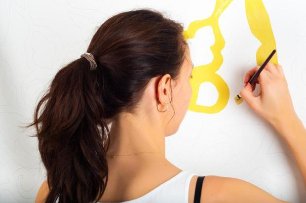 Painting, Wall, Woman, Girl, Home, Paint, House