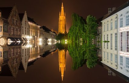 Bruges, Belgium, Mirroring, Old Town, New Europe Flights, GoGo Travel LLC, Travel Agent, Travel Consultant