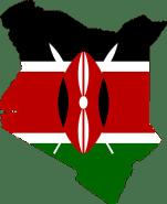Kenya, Flag, Map, Geography, Outline