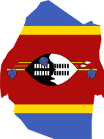 Swaziland, Flag, Map, Geography, Outline