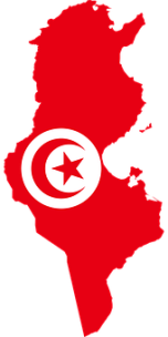 Tunisia, Flag, Map, Geography, Outline