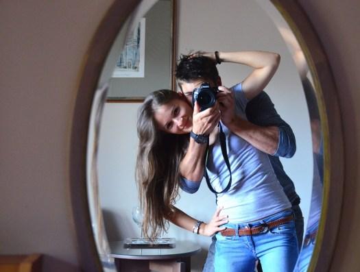 Fotografia, Specchio, Giovane Donna, Giovani