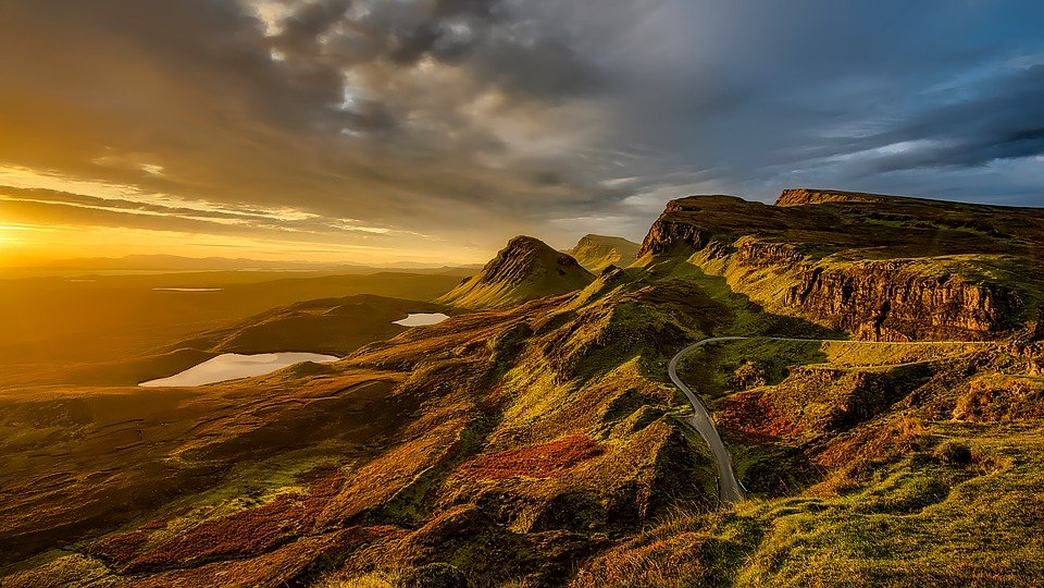 Escocia, Paisaje, Montañas, Colinas, Escénico