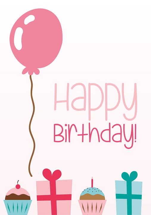 Ulang Tahun Kartu Ucapan Balon Gambar Vektor Gratis Di Pixabay