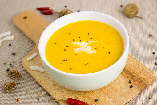 Soup, Pumpkin, Coconut, Pumpkin Soup