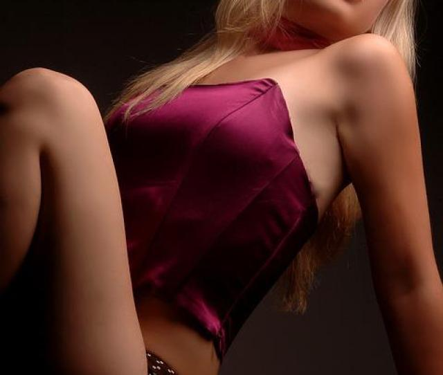 Blonde Woman Studio Photo Lingerie Model