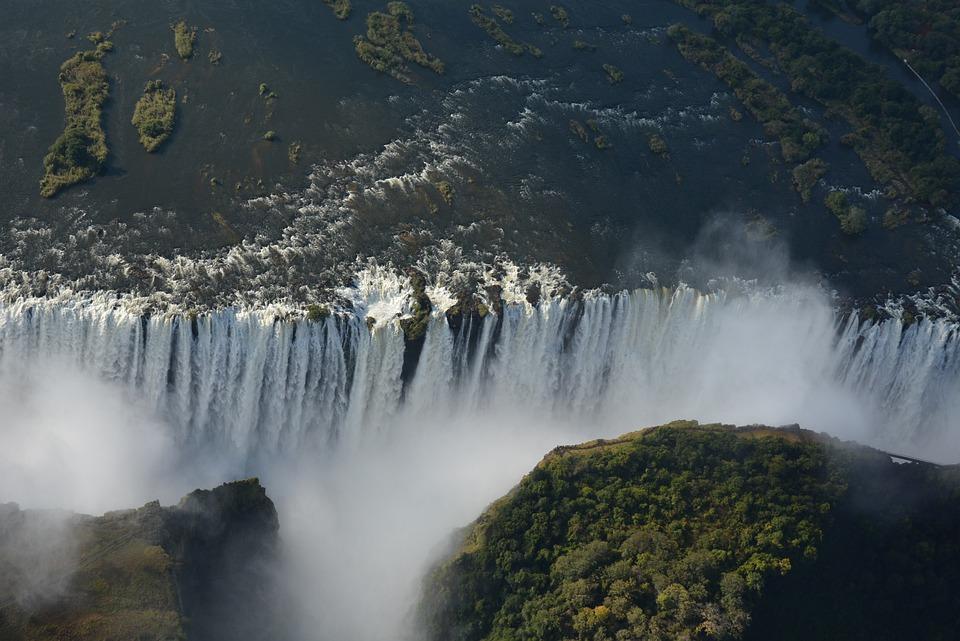 アフリカ, ビクトリアフォールズ, 滝