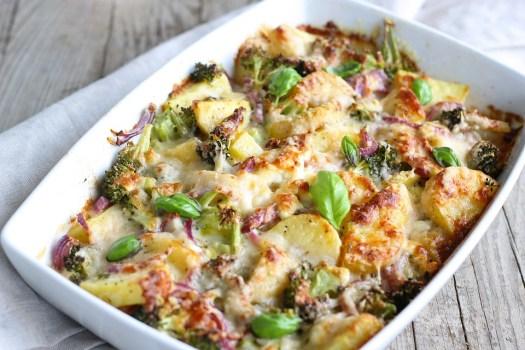 Broccoli, Di Patate, Casseruola, Formaggio, Al Forno