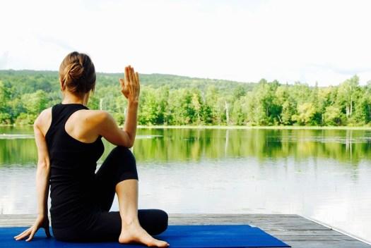 Yoga, Donna, Natura, Panorama, Meditare, Meditazione