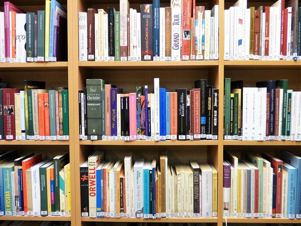 Bookshelf Library Books Free Photo On Pixabay