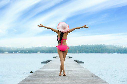 Frau, Erwachsene, Freiheit, Urlaub