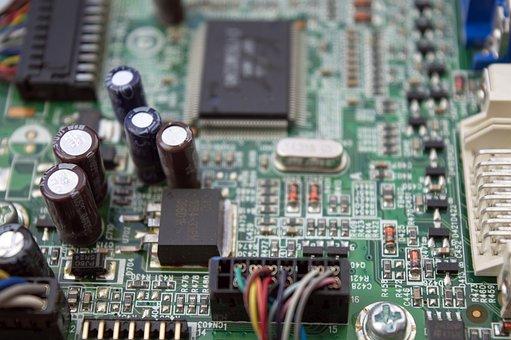 Chip, Printed Circuit Board, Capacitors