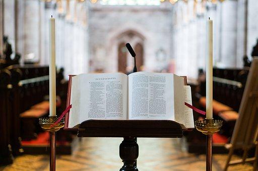Bibel, Verwischen, Buch, Kerzen