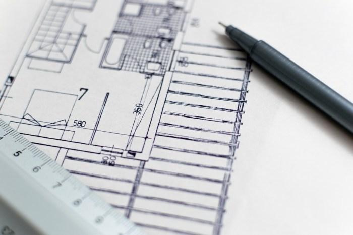 Arquitectura, Blueprint, Plano De Planta, Construcción