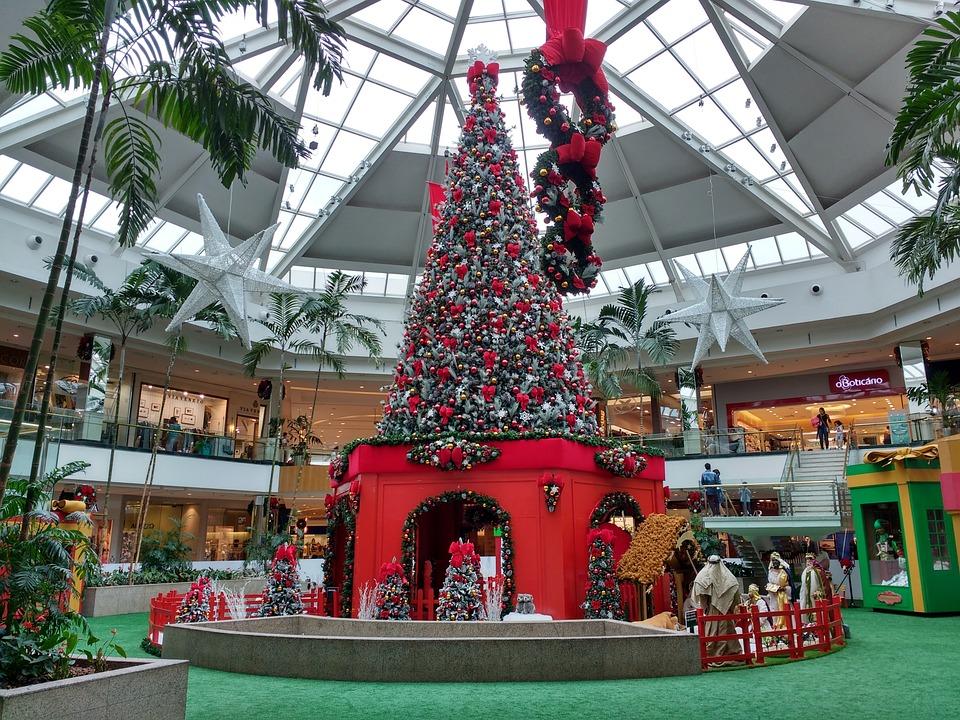 Foto Gratis Rbol De Navidad Centro Comercial Imagen