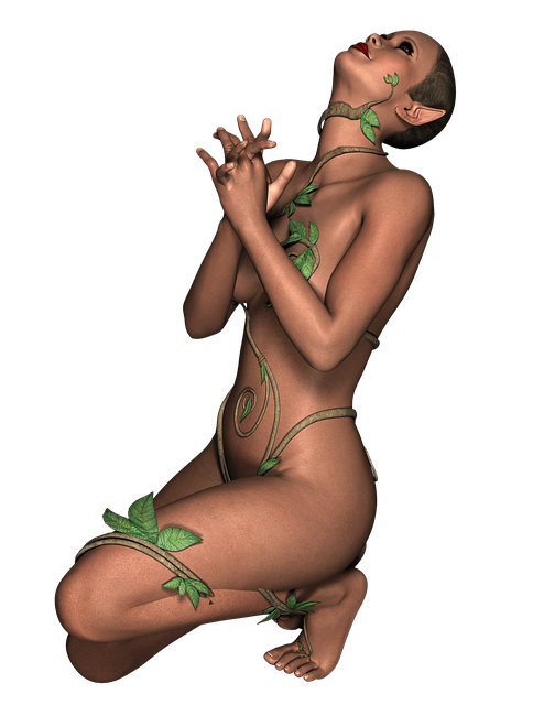 Free Illustration Lady Fantasy Pose Girl Dark Free