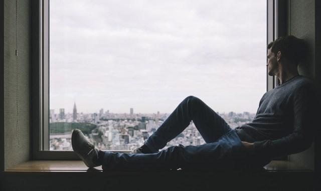 Città, Uomo, Persona, Assolo, Finestra, Da Solo