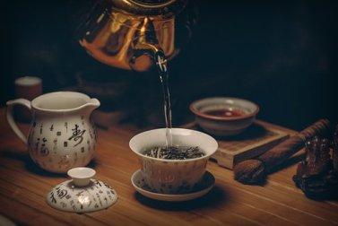 Tè, Coppa, Pentola, Foglie Di Tè