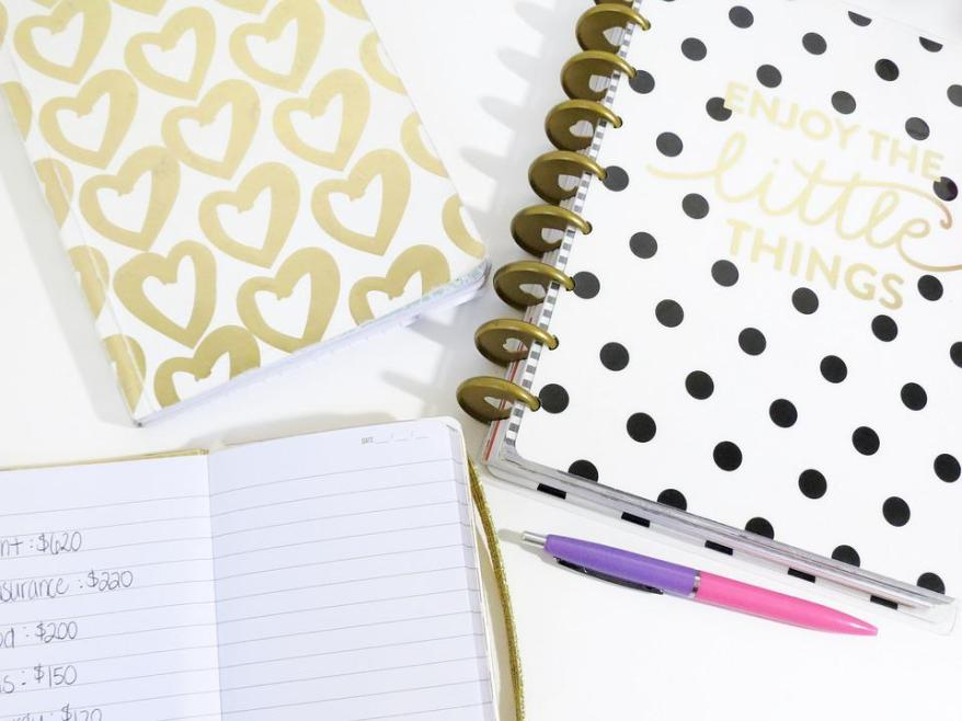 Work at Home Mums Planners. Hearts, Planner, Pen, Notebook, Cute, Pattern,