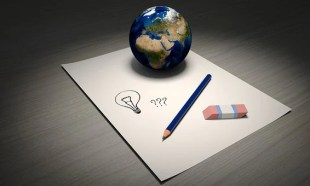 Idee Welt Stift Radiergummi Papier Glühbir