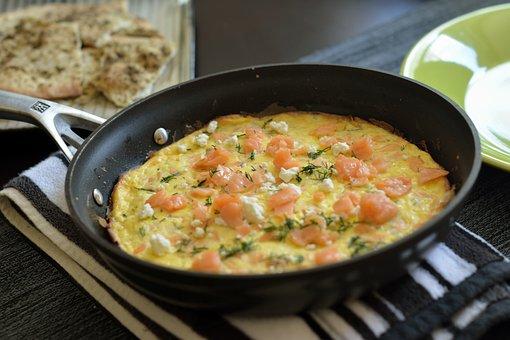 朝食, フライパン, 卵, 健康, 自家製, 調理, 食品, 鉄, 料理