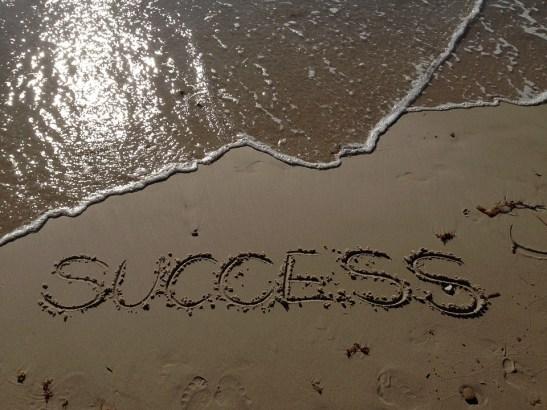 Success, Sand, Sea, Beach, Writing, Lettes, Words