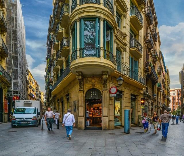 Barcelona Street Gothic Quarter Spain Architecture