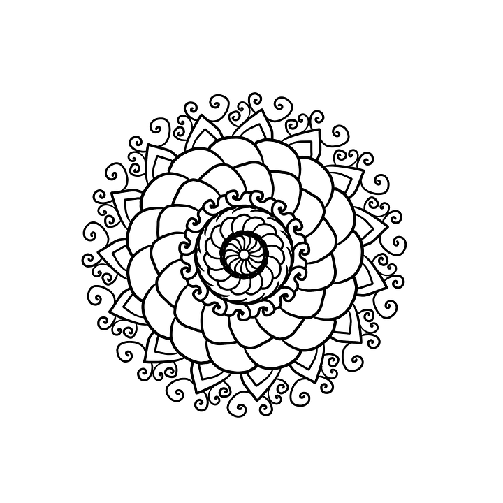 Mandala Coloring Page For Free Image On Pixabay