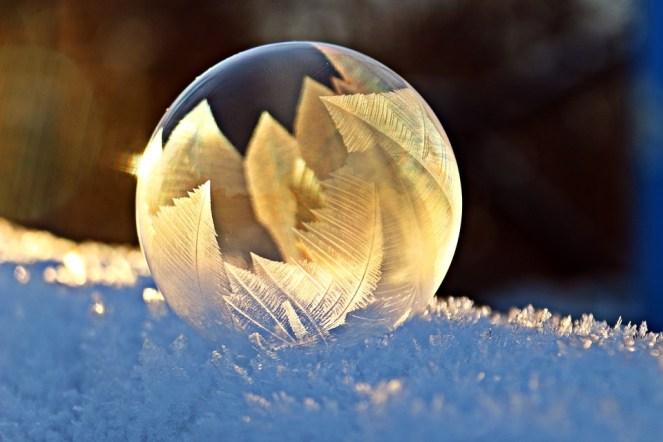 Bolha De Sabão, Geada, Neve, Bolha, Eiskristalle, Inverno