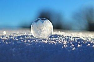 シャボン玉, バブル, Eiskristalle, 雪, 冬, 凍結