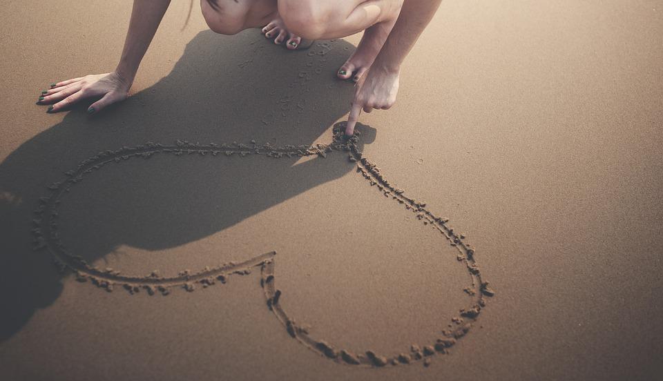 Coeur, Plage, Calme, Jouissance, Le Bonheur, Vacances