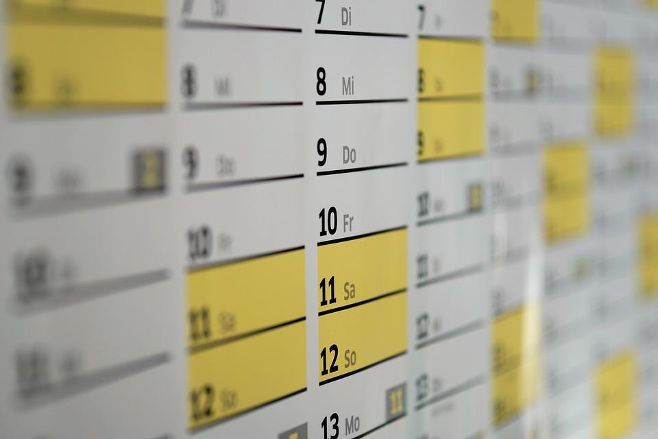 Calendar, Wall Calendar, Days, Date, Year, Time