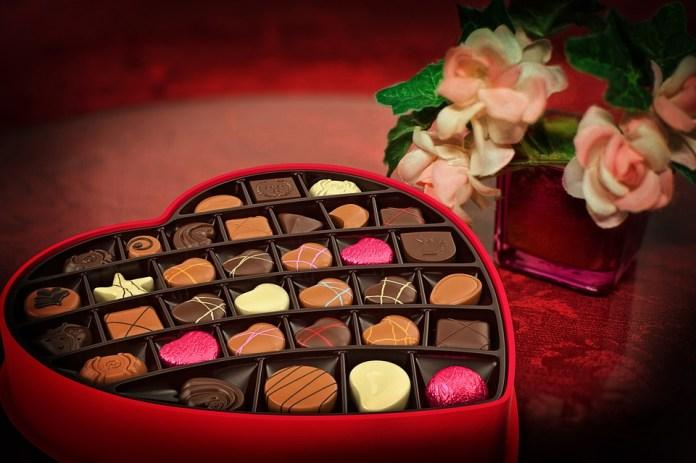 Sevgililer Günü, Çikolata, Candy, Kalp, Aşk, Red