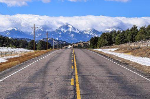 Road, Mountain, Colorado, Rockies