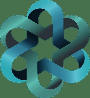 ロゴ, バンド, デザイン, とりこ, プラスチック, コース, 青, 緑
