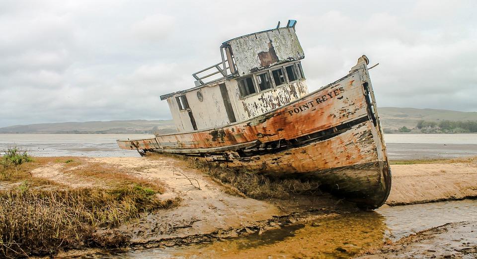 Shipwreck Ship Wreckage California Free Photo On Pixabay