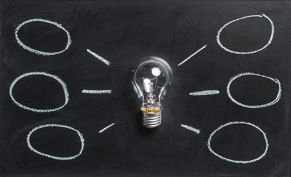 マインド マップ, ブレイン ストーム, アイデア, 技術革新, 想像力, インスピレーション, 電球