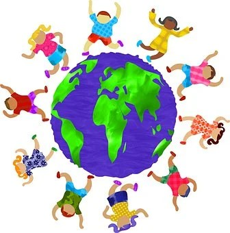 Människor, Kids, Barn, Gruppen