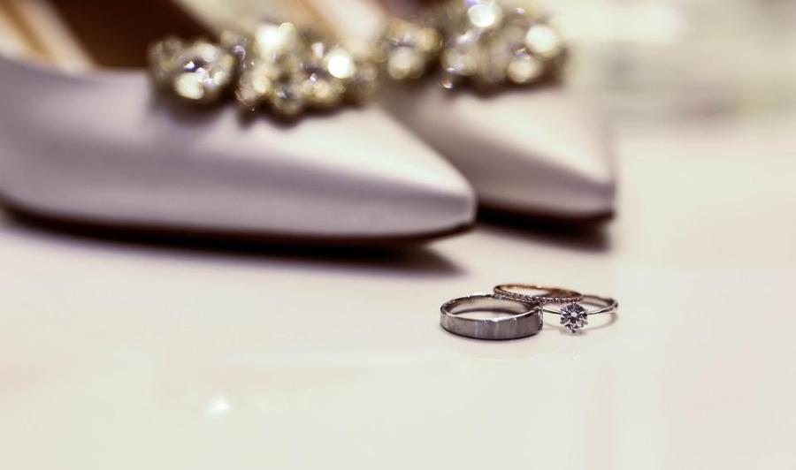 Shoe, Ring, Diamond, Coupling, Shoes, For, Wedding Ring