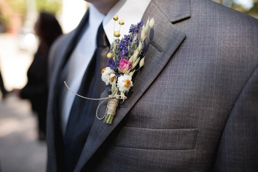 Boutonniere, Groomsman, Wedding, Flower, Groom