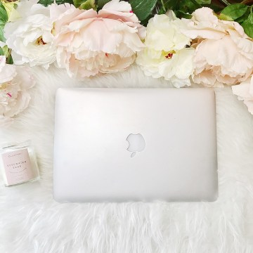 Macbook, ラップトップ, シャクヤク, オーバーヘッド, ビジネス