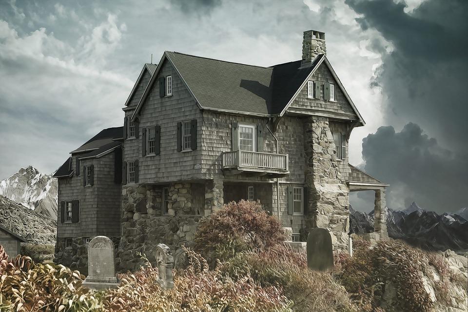 House, Cemetery, Haunted House, Dark, Horror, Gothic