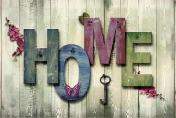 Home, At Home, Decoration, Wood, Canvas