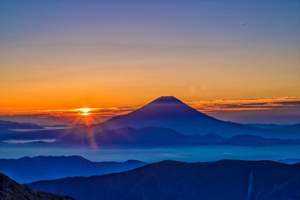 Mt Fuji Sunrise Morning Haze The Free Photo On Pixabay